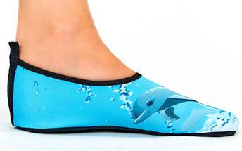 Обувь Skin Shoes детская Дельфин PL-6963-BL размер M-2XL-28-35 длина стопы 17-21см голубой, фото 3