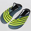 Обувь Skin Shoes для спорта и йоги PL-0417-Y размер S-3XL-34-45 длина стопы 20-29см серый-салатовый, фото 4