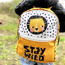 Рюкзак детский Light Stay wild (лев) (RDL_20A013_WH)