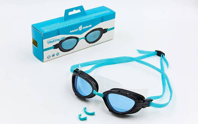 Очки для плавания MadWave TRIATHLON M042704 (TPR, PC, силикон, цвета в ассортименте), фото 2