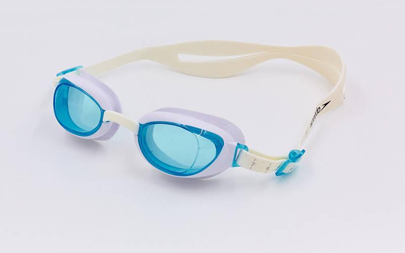 Очки для плавания SPEEDO AQUAPURE FEMALE 8090044284 (поликарбонат, термопластичная резина, силикон, белый-синий)