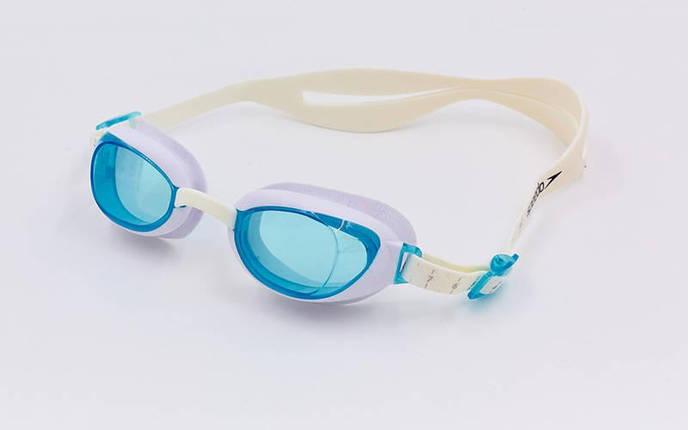 Очки для плавания SPEEDO AQUAPURE FEMALE 8090044284 (поликарбонат, термопластичная резина, силикон, белый-синий), фото 2