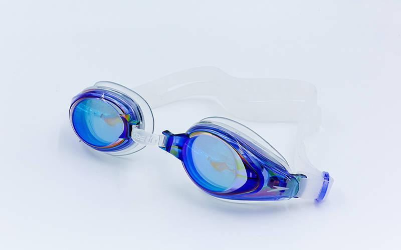 Очки для плавания SPEEDO MARINER MIRROR 8093003540 (поликарбонат, термопластичная резина, силикон, синий-прозрачный)