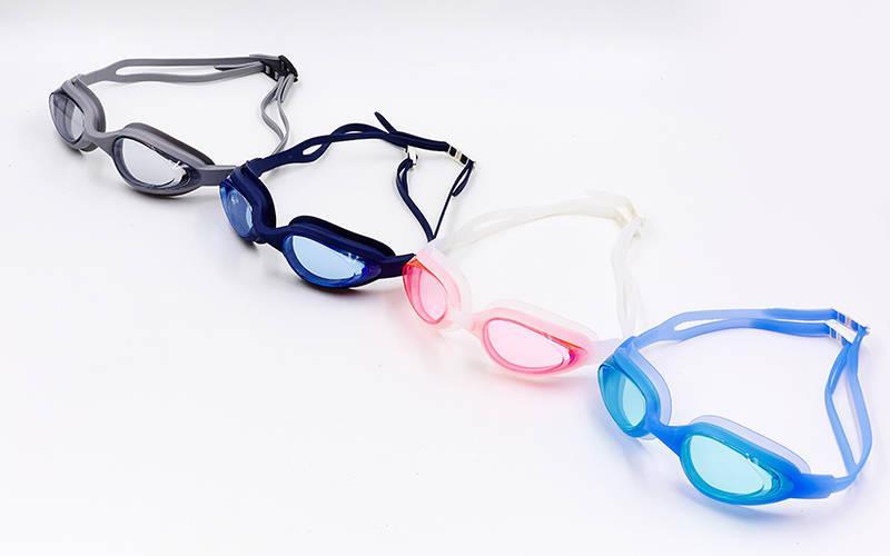Очки для плавания с берушами в комплекте SAILTO G-2300 (поликарбонат, силикон, цвета в ассортименте)