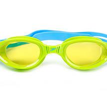 Очки для плавания детские SPEEDO FUTURA PLUS JUNIOR 809010B818 (поликарбонат, термопластичная резина, силикон, голубой-салатовый), фото 2