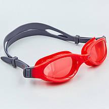 Очки для плавания детские SPEEDO FUTURA PLUS JUNIOR 809010B860 (поликарбонат, термопластичная резина, силикон, серый-красный), фото 3