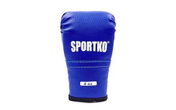 Перчатки боксерские детские SPORTKO PD-2 (кожвинил, р-р 4-8 oz, цвета в ассортименте), фото 2