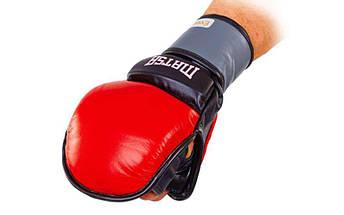 Перчатки гибридные для единоборств ММА кожаные MATSA ME-2011 (р-р M-XL, цвета в ассортименте), фото 3