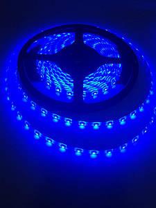 Светодиодная лента LED 3528 Blue 60 диодов 12V без силикона