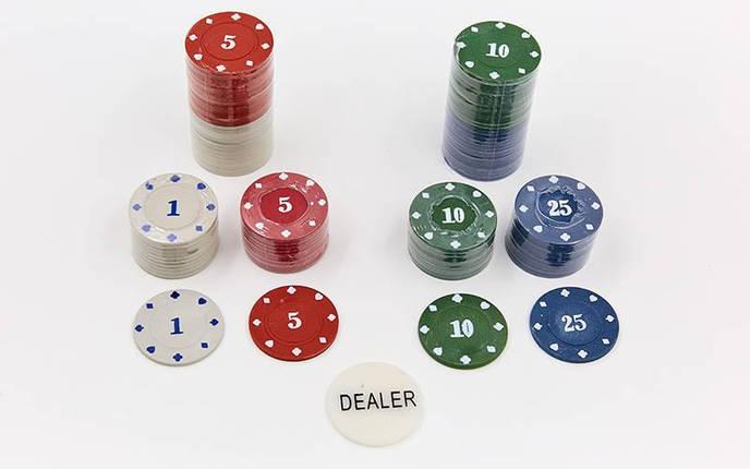 Покерный набор в металлической коробке-100 фишек 538-053 (с номиналом), фото 2