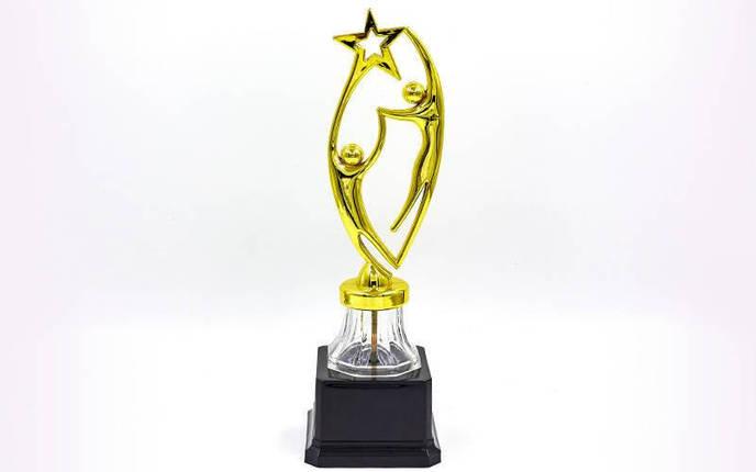 Награда (приз) спортивная RUN YK-132B (пластик, h-27,5см, b-7см, золото), фото 2