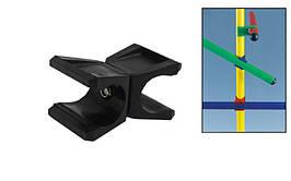 Клипса для крепления палки гимнастической (1шт) C-4599 (пластик, р-р 6,5x4см, для палок d-2,5см, черный)