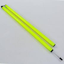 Шест для слалома тренировочный 2 сложения C-0818 (пластик, метал. штык для крепления в грунт, 183x3см, цвета в ассортименте), фото 2