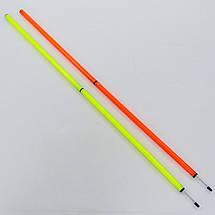 Шест для слалома тренировочный 2 сложения C-0818 (пластик, метал. штык для крепления в грунт, 183x3см, цвета в ассортименте), фото 3