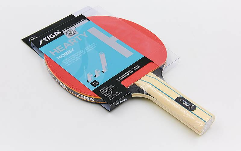 Ракетка для настольного тенниса 1 штука STIGA SGA-1210141737 HEARTY HOBBY (древесина, резина)