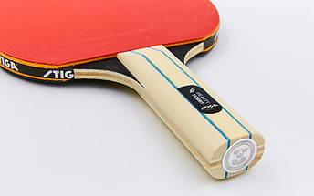 Ракетка для настольного тенниса 1 штука STIGA SGA-1210141737 HEARTY HOBBY (древесина, резина), фото 3
