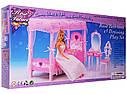 Лялькова меблі Gloria Глорія 2614 Спальня - ліжко з балдахіном, трюмо, фото 2