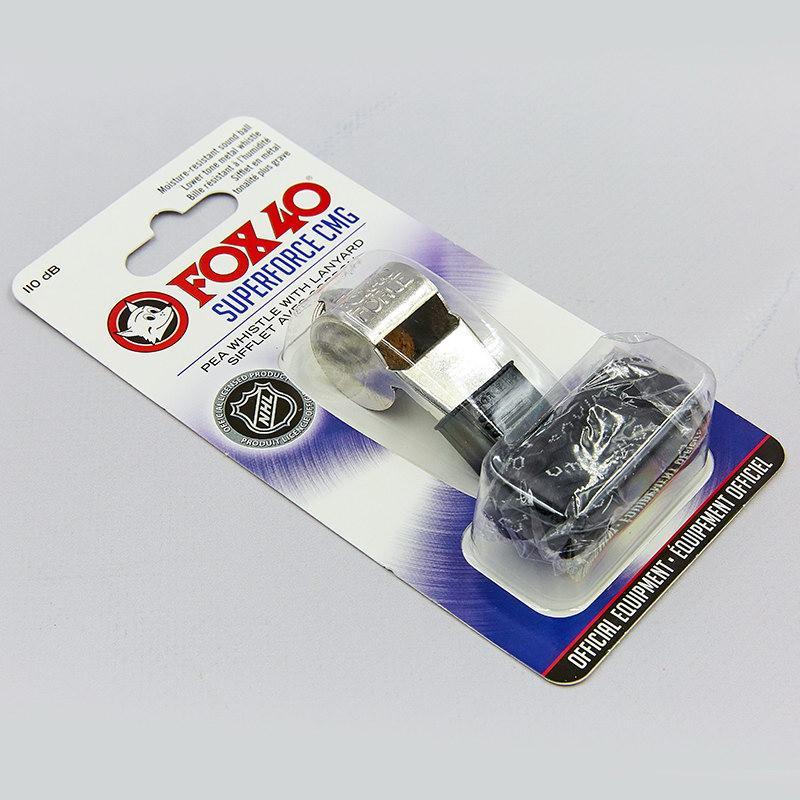 Свисток судейский пластиковый FOX40-9122-1408 SUPER FORCE CMG (110dB, на шнуре, серебряный)