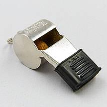 Свисток судейский пластиковый FOX40-9122-1408 SUPER FORCE CMG (110dB, на шнуре, серебряный), фото 2