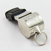 Свисток судейский пластиковый FOX40-9122-1408 SUPER FORCE CMG (110dB, на шнуре, серебряный), фото 3