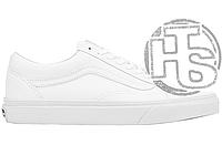 Женские кеды Vans Old Skool Leather True White VA38G1ODJ
