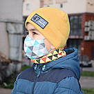 Маска защитная трехслойная детская многоразовая хлопковая, фото 2