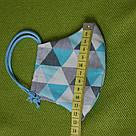 Маска защитная трехслойная детская многоразовая хлопковая, фото 7