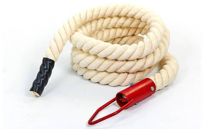 Канат спортивный для лазанья с креплением UR SO-5299 (хлопок, l-4,5м, d-4,5см), фото 2
