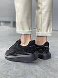 Стильные женские кроссовки Alexander McQueen (Александр Маквин) Black, фото 2