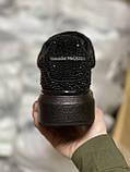 Стильные женские кроссовки Alexander McQueen (Александр Маквин) Black, фото 3