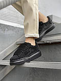 Стильные женские кроссовки Alexander McQueen (Александр Маквин) Black, фото 4