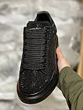 Стильные женские кроссовки Alexander McQueen (Александр Маквин) Black, фото 9