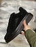 Стильные женские кроссовки Alexander McQueen (Александр Маквин) Black, фото 8
