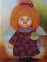 Набор для вышивки бисером Домовенок с кексом Д 252