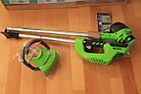 Тример садовий акумуляторний Greenworks G40LTK2 з АКБ 2 Ah і ЗП, фото 7