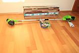 Тример садовий акумуляторний Greenworks G40LTK2 з АКБ 2 Ah і ЗП, фото 8