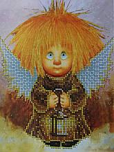 Набор для вышивки бисером Домовенок с фонарем Д 254
