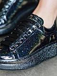 Стильні кросівки Alexander McQueen (Олександр Маквин) Black Space LUX QUALITY, фото 4