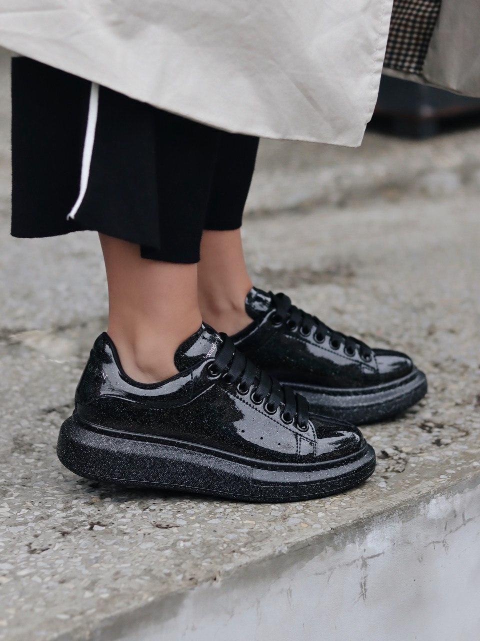 Стильны кроссовки Alexander McQueen (Александр Маквин) Black Space LUX QUALITY