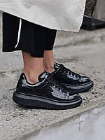 Стильны кроссовки Alexander McQueen (Александр Маквин) Black Space LUX QUALITY, фото 1