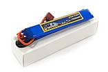 Аккумулятор для страйкбола Giant Power Li-Pol 7.4V 2S 1300mAh 25C 2 лепестка 6.5х21х130мм T-Plug, фото 2