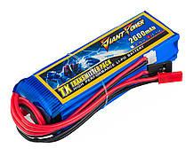 Акумулятор Giant Power Li-Pol 2600mAh 11.1 V 3S 3C 25х31х97мм Futaba+JST для передавачів