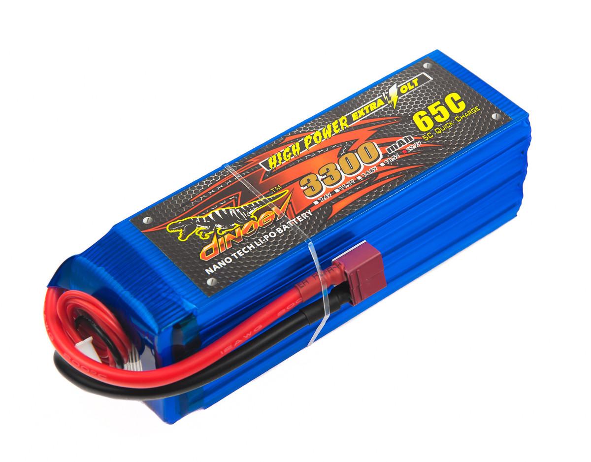 Аккумулятор Dinogy Li-Pol 3300mAh 22.2V 6S 65C 43x42x133мм T-Plug