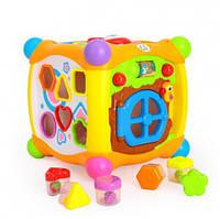 Музыкальный детский игровой развивающий центр Кубик сортер 936