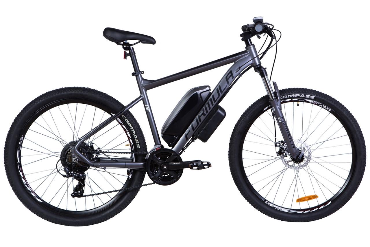 """Электровелосипед 27.5"""" F-1 500Вт 36В, 14Ач, макс.пробег 55км, 45 км/ч (графитовый (м))"""