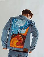 Куртка мужская джинсовая Staff hand made c12