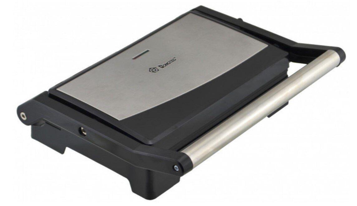 Прижимной контактный электрогриль DOMOTEC MS-7708 1000Вт (сендвичница, открывается на 180 градусов)
