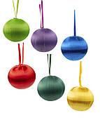 """Набір ялинкових іграшок """"Куля"""" (6шт) Coincasa D=5см Різнобарвний"""