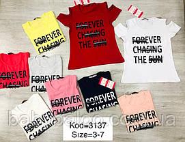 """Красивая футболка  для девочки """"Forever"""" (от 3 до 7 лет), фото 3"""