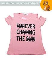 """Красивая футболка  для девочки """"Forever"""" (от 3 до 7 лет)"""
